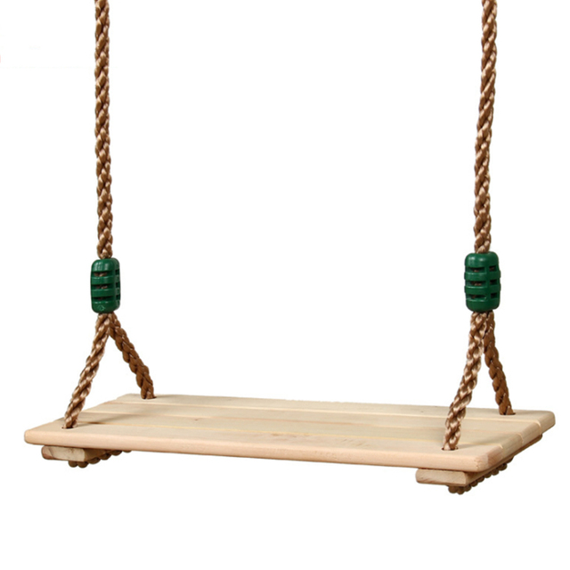 Wooden Chair Garden Swings with Rope 1