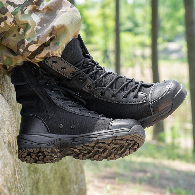 36-46Size Men Women Military Training Canvas Shoe Outdoor Sport Wearproof Breathable Tactical Boots Summer Climbing Hiking Shoes