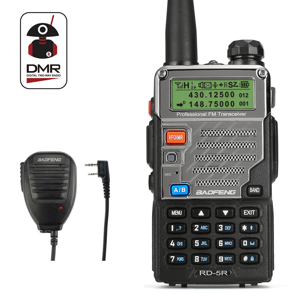 Baofeng RD-5R DMR Tier II VFO Digital Dual Band 136-174/400-<font><b>470MHz</b></font> Two way Radio Walkie Talkie Ham <font><b>Transceiver</b></font> with Speaker image