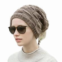 Шапочки шапка шарф маска для лица многофункциональная пушистая уличная зимняя вязаная шапка с отверстием для хвоста шеи Теплый головной убор Новинка
