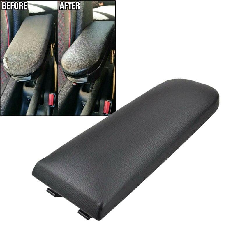 Accoudoir de voiture couvercle loquet couvercle attache attraper noir protecteur pour siège Ibiza 6J Toledo 2009-2016 PU cuir doublure ABS plastique