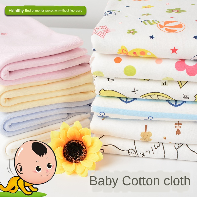 190cmx100cm Baby Organic Full Cotton Knitted Fabric Garment Material Cotton Woolen Fabric Class A Knitted Cloth Wholesale
