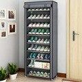 Многослойная полка для обуви, съемный пылезащитный нетканый шкаф для обуви, домашняя стойка, экономия места, подставка, держатель, органайз...