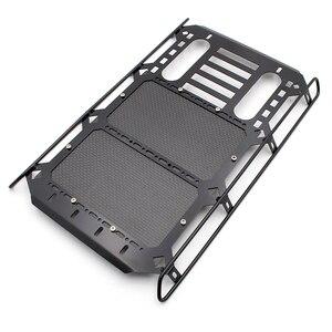 KYX металлическая рейка на крышу с панелью из углеродного волокна 253x168 мм, запчасти для модификации аксессуаров для радиоуправляемого гусени...