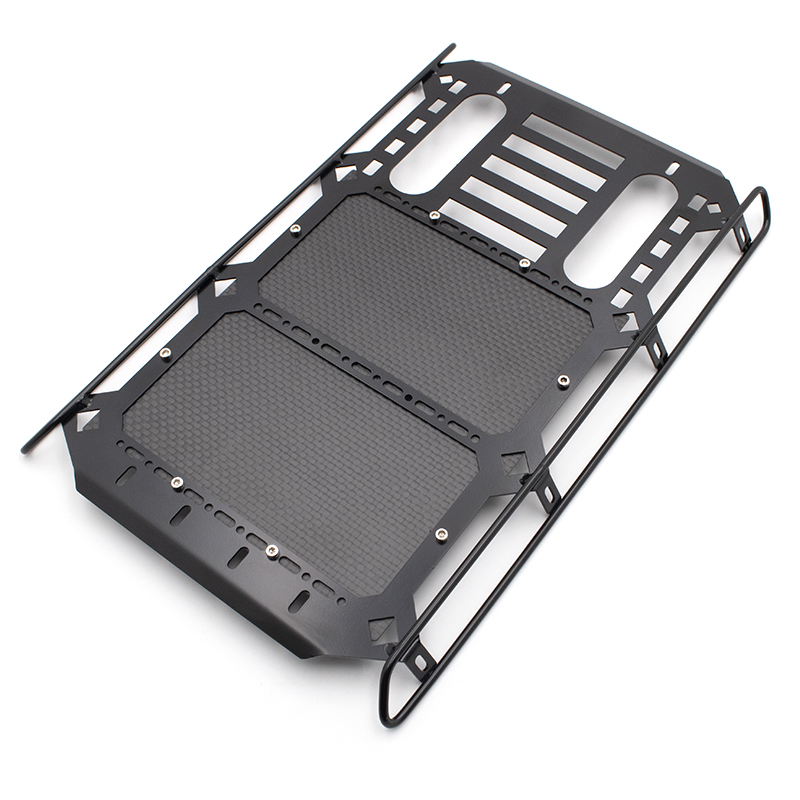 KYX Racing Metal Roof Rack With Carbon Fibre Panel 253x168mm Upgrades Parts Accessories For RC Crawler Car Traxxas TRX4 G500