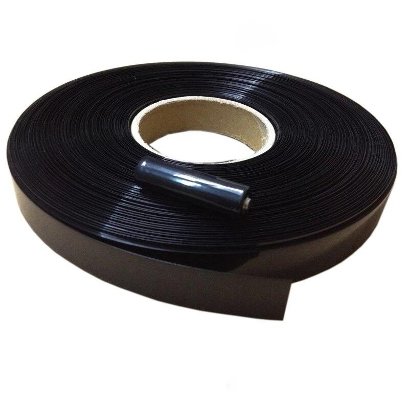 """קרסים עופרות אביזרים וביגוד 1 ק""""ג 29.5mm ~ 180mm שטוח רוחב PVC שחור צבע חום צינור מתכווץ עבור 18,650 26,650 הסוללה (3)"""