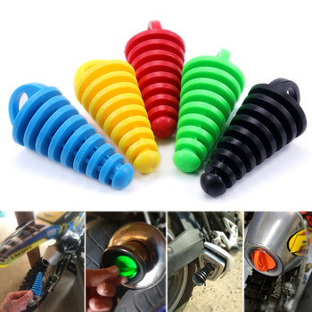 1PC Exhaust Pipe Plug Motorcycle Motocross Tailpipe Rubber Air Bleeder Plug Exhaust Silencer Wash Plug Pipe Protector