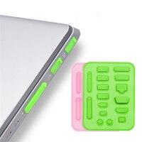 16 unids/set portátil polvo enchufe conjunto tapa protectora de USB HDMI puerto de red VGA de sellado de caucho Protector accesorios de oficina