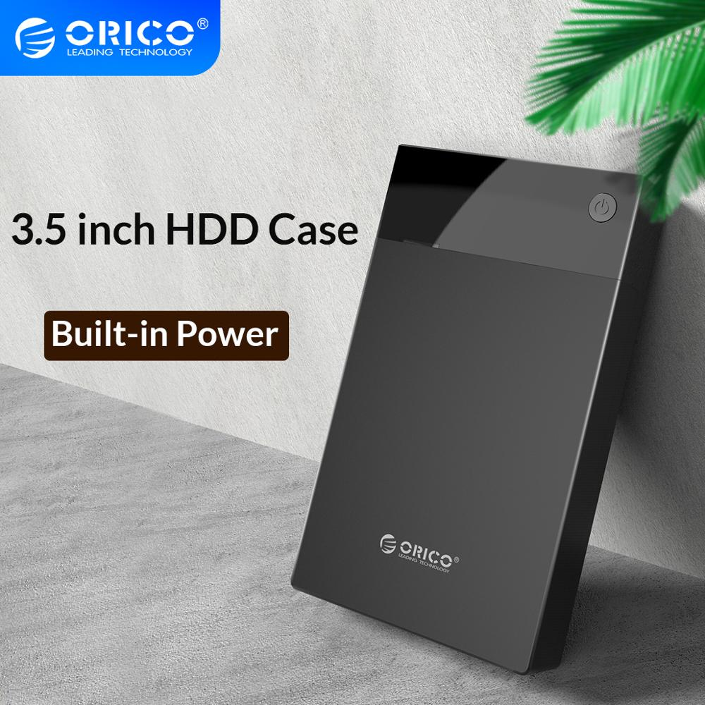 ORICO 3.5'' HDD Case Bulit-in Power SATA To USB 3.0 Hard Drive Enclosure 5Gbps Super Speed Support 12TB HDD UASP For PC TV PS4