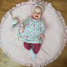 Newborn Baby Padded Play Mats Soft Cotton Crawling Mat Girls Game Rugs Round Floor Carpet For Kids Interior Room Decoration 39 37inch kids baby play cotton mats portable foldable round carpet rugs play mat newborn infant crawling blanket floor carpet