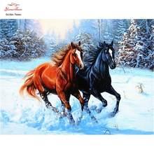 Pintura diamante 5d cavalo ponto cruz strass diamante bordado animal arte da costura presente decoração casa