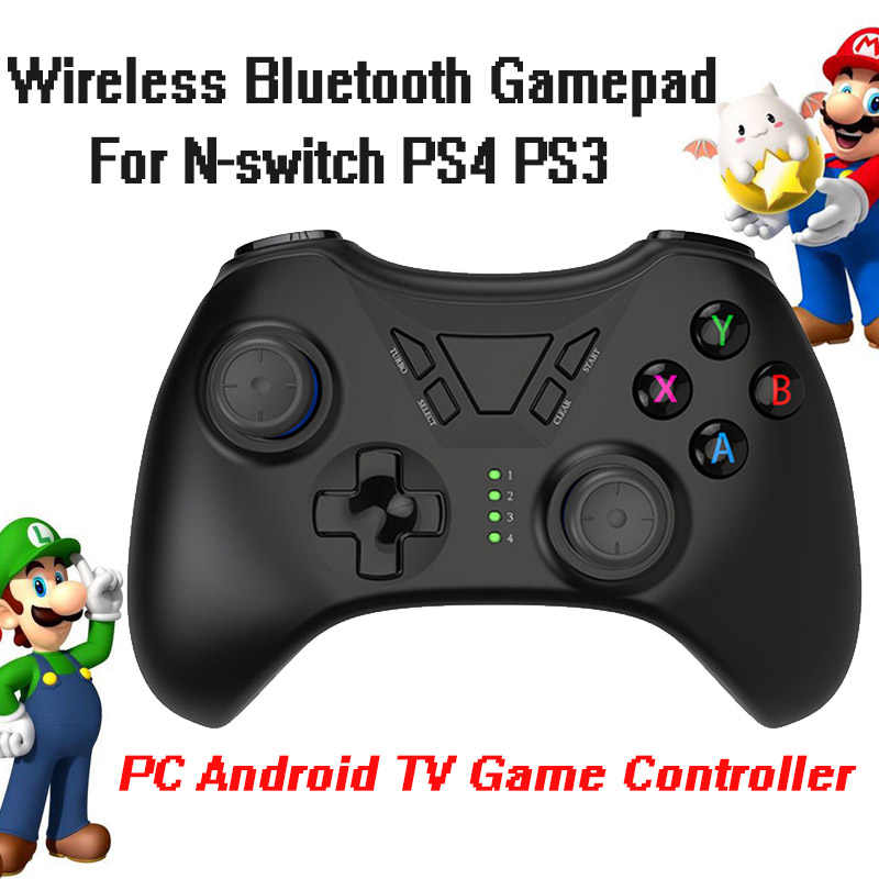 Nirkabel Bluetooth 3.0 Game Pad Handheld Mini Permainan Konsol Dual Vibrator N-Switch PS4 PS3 PC Android TV Permainan controller Gamepad