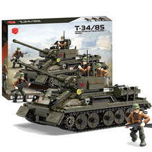 XJ-915 medium tank series Soviet T34-85 assembled building block particles military model  boy toy