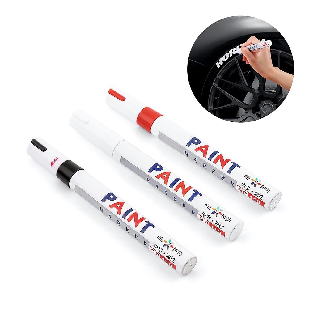 B-01 universal branco pneu de carro piso marcador para o assento mazda hyundai suzuki lexus carro estilo caneta pintura roda pneu pintura