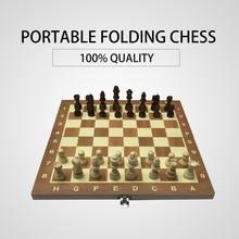 29 см деревянная шахматная доска складная игра смешной Международный