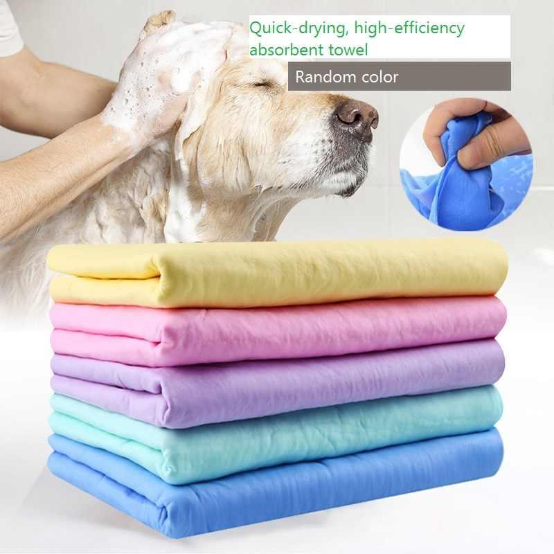 Rapid Water Absorption PET Dog Cat นุ่มผ้าเช็ดทำความสะอาด Magic ผมแห้ง PVA Multifunction สำหรับรถสัตว์เลี้ยงผ้าขนหนู