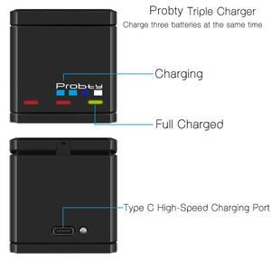 Image 3 - Orijinal probty GoPro Hero 7 hero 6 hero 5 siyah pil veya üçlü git Pro için şarj Hero7 6 hero5 siyah kamera pil