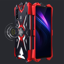 Metal Case For Vivo Iqoo Neo Cover Luxury Anti-shock Armor Protective Shell With 360 Rotating Stand Holder