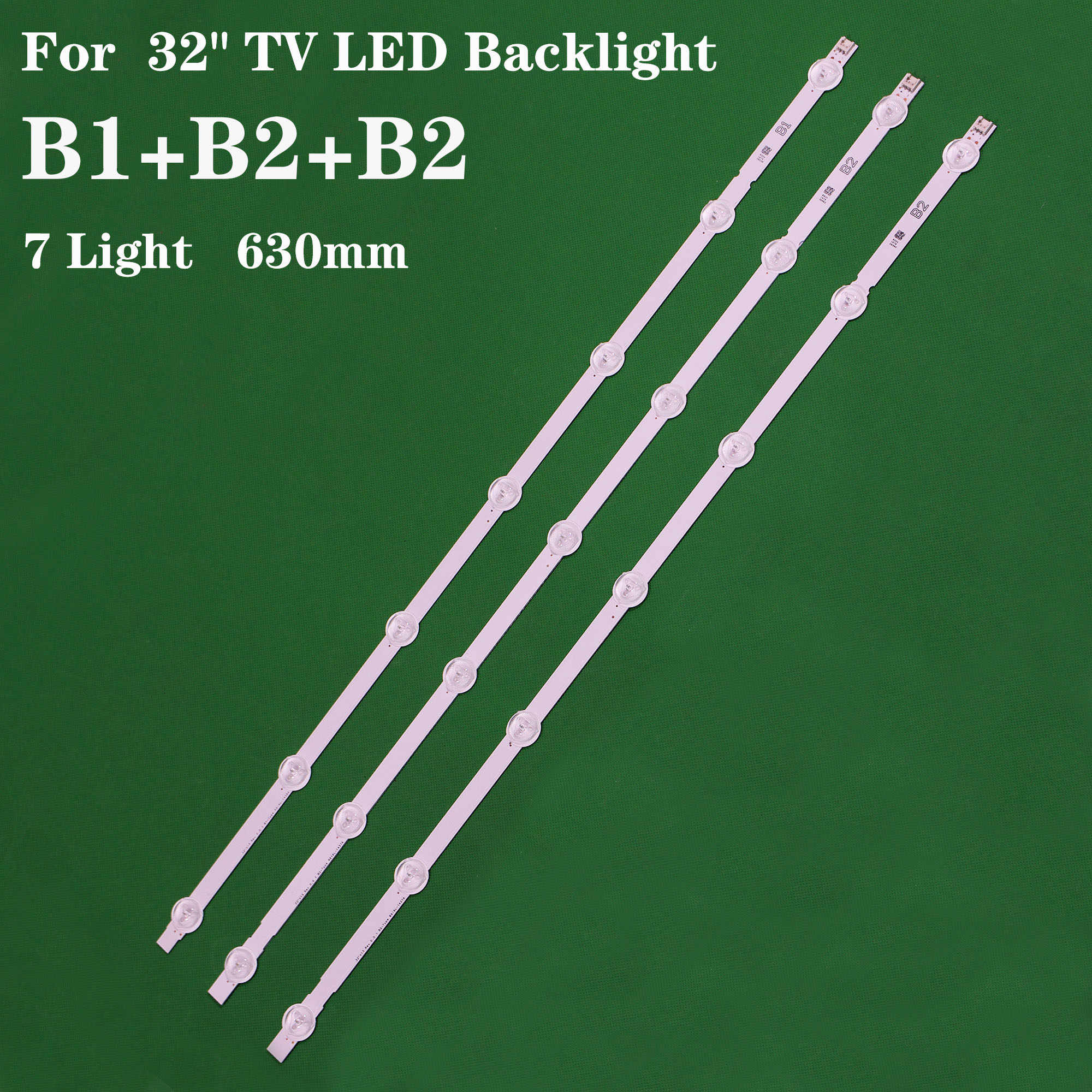 Cables 630mm 7 LED Backlight Lamp Strip for LG 32 TV 32ln541v 32LN540V A1//B1//B2-Type 6916L-1204A 6916L-1426A 6916L-1437A 6916L-1438A Occus Cable Length: Other, Color: 5lot