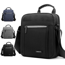 Men's Gray Zipper Convenient Shoulder Bag Business Travel Waterproof Nylon Crossbody 24cm * 21cm 9cm