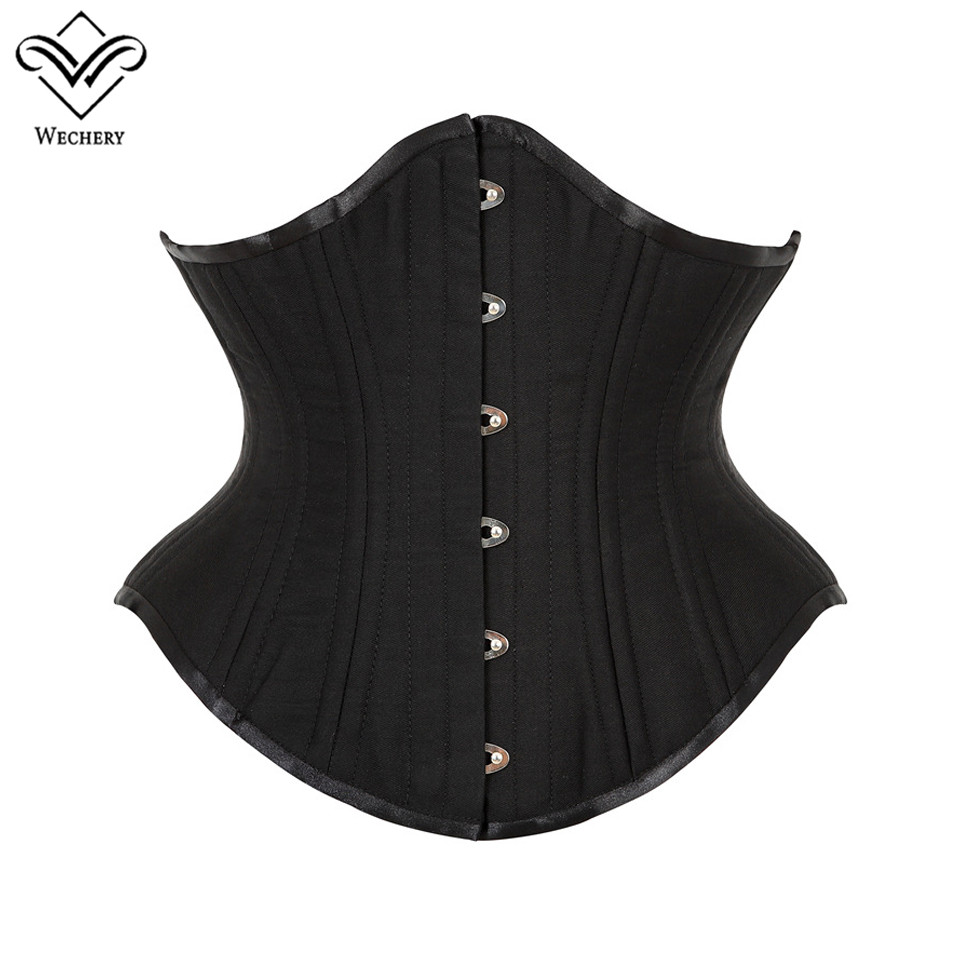 Lace Up Waist Trainer Control Cinchers Women Wide Girdle Back Support Steel Boned Underbust Corset Tops Slimming Reducing Belts