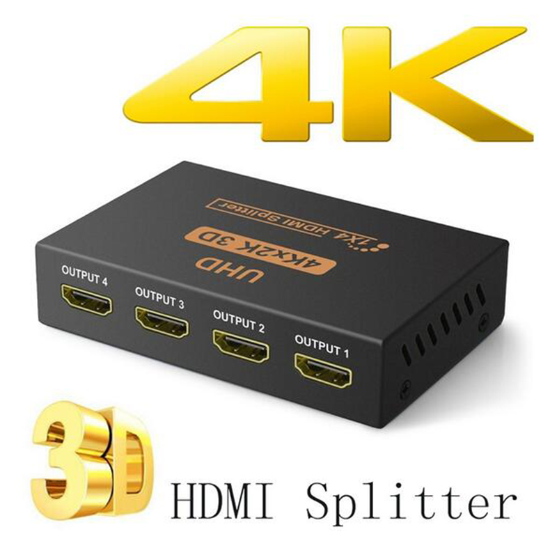 4K HDMI Splitter Full HD 1080p Video HDMI Switch Switcher 1X2 1X4 Dual Display For HDTV DVD PS3 Xbox Capture Card NintendoSwitch