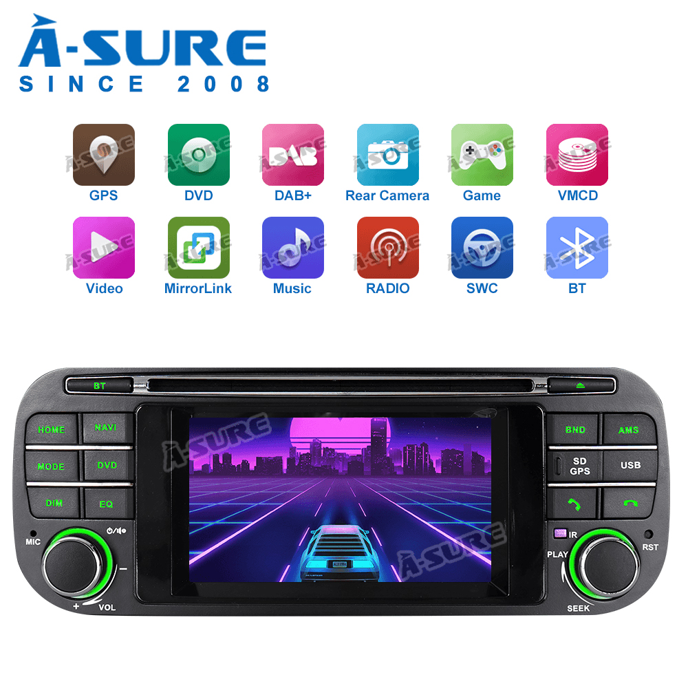 A-Sure Car Multimedia 4.3'' AutoRadio DVD Player GPS Navigation BT RDS For Jeep Grand Cherokee Wrangler Libert Sebring Chrysler