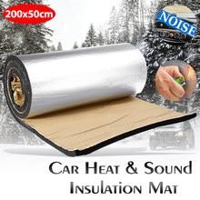 Alfombrilla de calor para cortafuegos de motor, cubierta de coche mejorada de 200cm x 50cm 5mm-30mm, aislamiento acústico a prueba de golpes, alfombra de aluminio