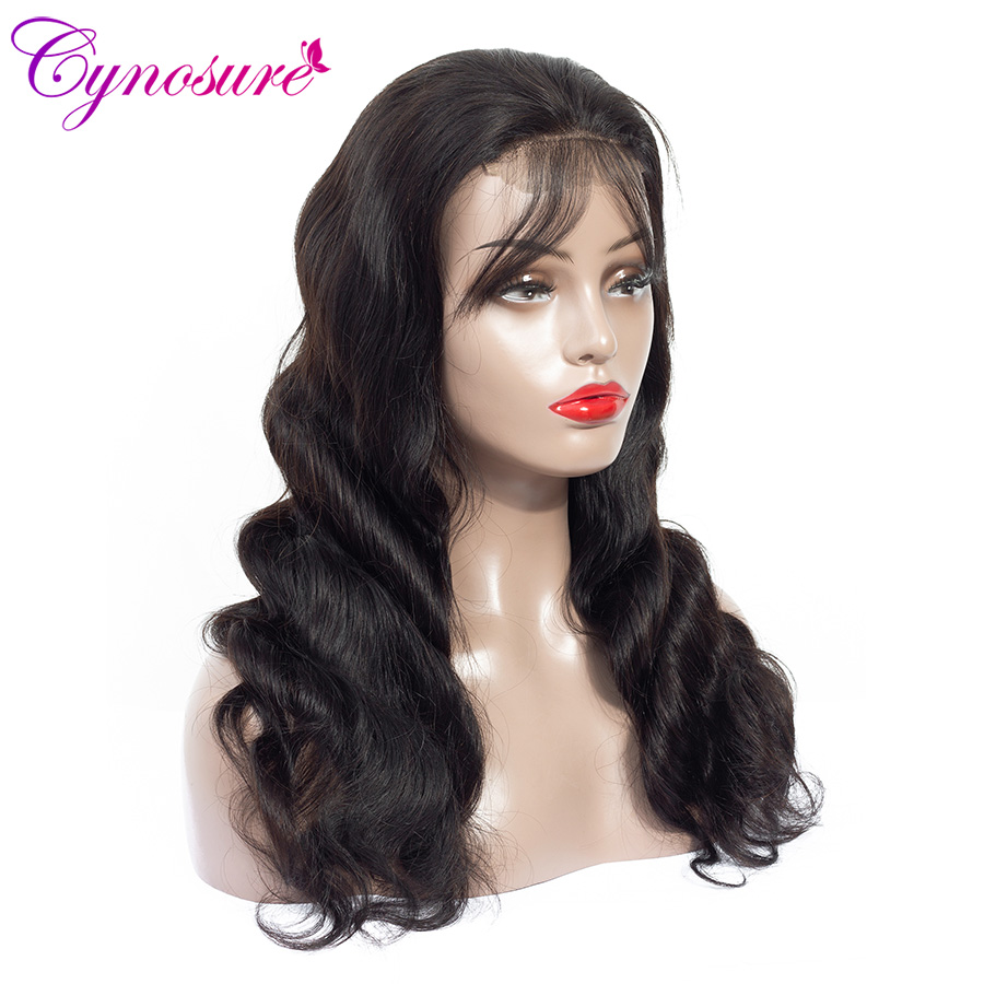 He52b9d1d953846df819f798fff84d495g Cynosure 4x4 Lace Front Human Hair Wigs Pre Plucked with Baby Hair For Black Woman Remy Brazilian Body Wave Lace Closure Wig