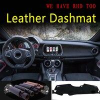 Para chevrolet camaro rs g6 2016 2017 2018 2019 2020 dashmat dashmat dashboard capa traço tapete estilo do carro acessórios automóveis|  -