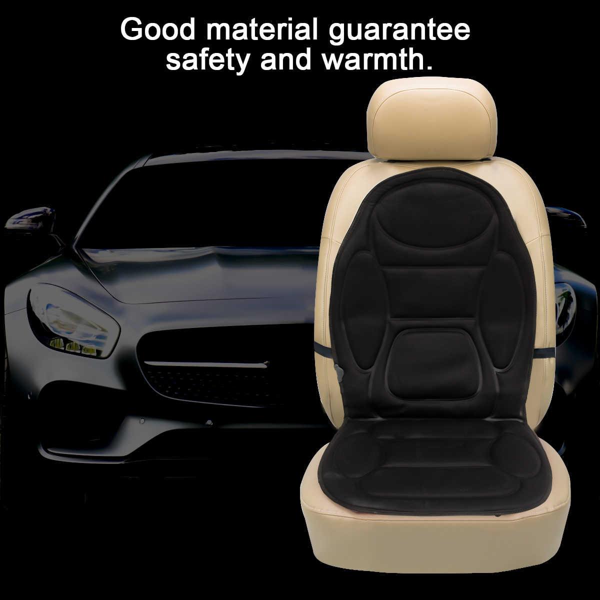 12V Mobil Listrik Kursi Bantal Cover Kursi Pemanas Hangat Musim Dingin Rumah Tangga Pemanas Bantal Kursi