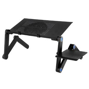 Image 2 - Two Fan Laptop Desks  Portable Foldable Adjustable Folding Table Laptop Desk Stand mesa para notebook Table Vented Stand Bed