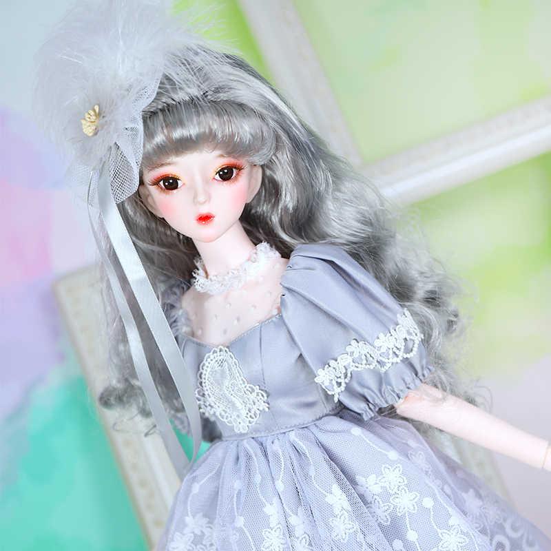 Dbs 1/3 bjd 62cm corpo conjunto boneca vestido sapatos headdress sonho fada sd
