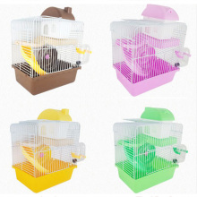 HOT SALE Pet Toy Double Story Hamster Cage With Wheel Dish Water Small Double-decker Luxury Villa Supplies