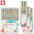 Набор цветных ручек Sakura Micron для рисования, кисть для рисования, ручка XSDK 005/01/2/3/4/5/8/1.0, товары для рукоделия