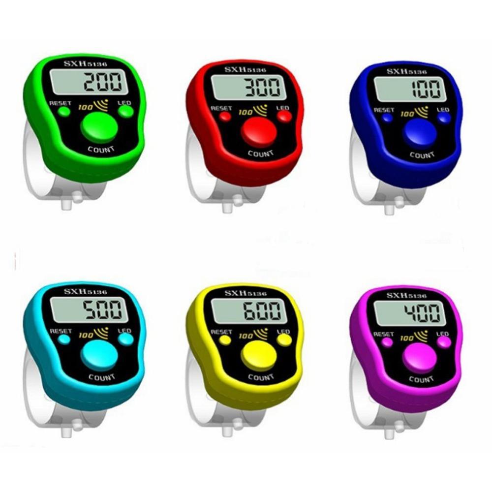 Мини-маркер для стежков, счетчик пальцев в ряд, Электрический цифровой ЖК-дисплей со светильник кой для детской вязки
