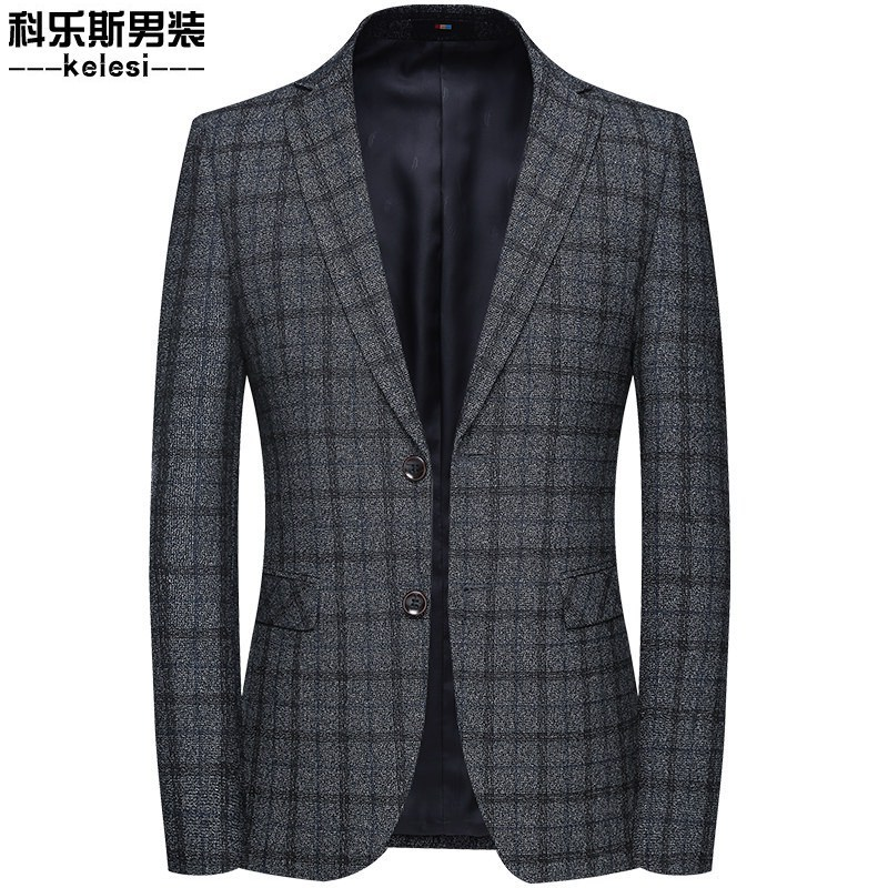 2019 Autumn New Style Men Suit Middle-aged Business Leisure Suit Korean-style Slim Fit Single West Coat Ksm9820