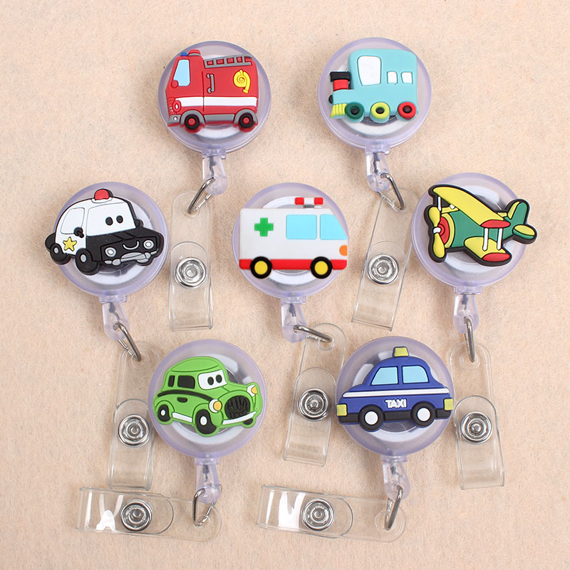 7 Styles Car Plane Boys  Retractable Creative Plastic Badge Holder Reel Students Nurse Exhibition Enfermera Name Card Chest Card