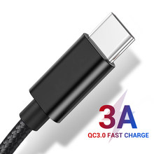 3A Fast Charging Data Cable USB Type C Cable USB C for Samsung Galaxy S10 S9 Plus Xiaomi Huawei Mobile Phone Charger Cable Usb c(China)