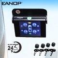 Eanop S368 Solar Tpms 2.4 ''Tft Lcd Auto Bandenspanningscontrolesysteem 4 Stuks Interne Externe Sensoren Alarm Voor Universele Auto