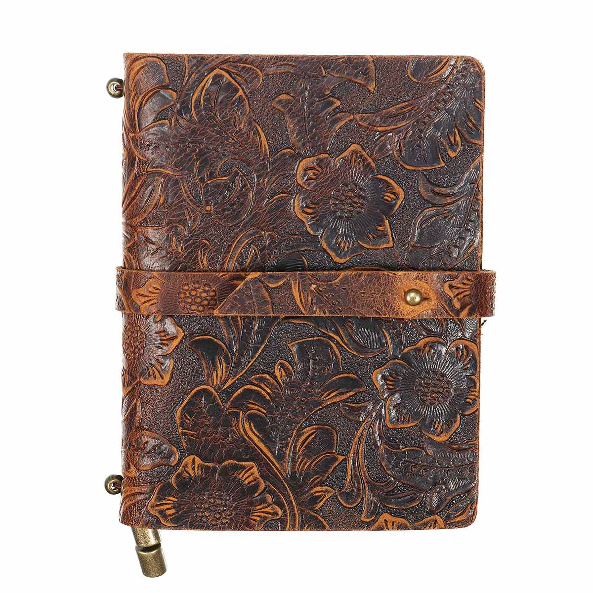 Notebook Notepad Vintage  Anchors PU Leather Note Book Traveler Journal Diary Handmade Embossed Stitched Notebook