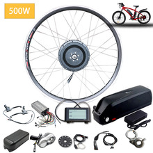 eBIKE Conversion Kit 20-26 inch 700C Electric Bicycle Conversion Kit 36v 500w/48v 500w Front Hub Motor Wheel samsung e bike kit kunray electric bicycle conversion kit 250w 36v 48v brushless gear hub motor for road mtb bike front wheel ebike set with lcd5
