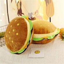 Nouveau créatif burger peluche jouet doux rembourré en peluche coussin oreiller mignon hamburger oreiller garçon fille cadeau d'anniversaire 30/50 cm WJ292