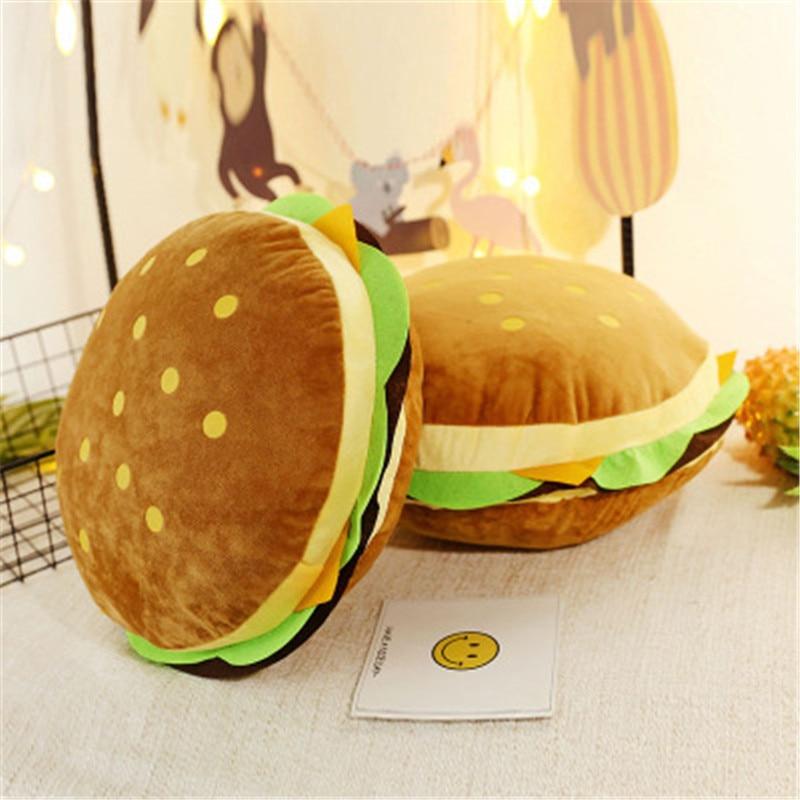 New creative burger plush toy soft padded plush cushion pillow cute hamburger pillow boy girl birthday gift 30/50 cm WJ292