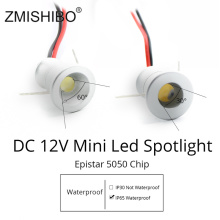 ZMISHIBO Spot LED Silvery Mini Cabinet Lights 12V Downlight 15mm Cut Hole Ceiling Recessed Lamp IP65 For Jewelry Display