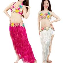 Luxury Oriental Women Belly Dance Costume Outfit Set Bra Belt 2019 Carnival Bollywood 2 PCS
