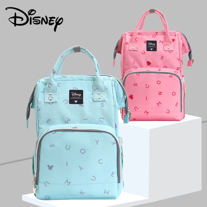 Disney 2019 New Diaper Bag Backpack Large Capacity Waterproof Nappy Bag Kits Mummy Maternity Travel Backpack Nursing Handbag
