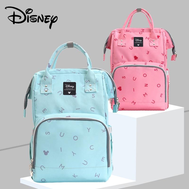 Disney 2019 New Diaper Bag Backpack Large Capacity Waterproof Nappy Bag Kits Mummy Maternity Travel Backpack Nursing Handbag