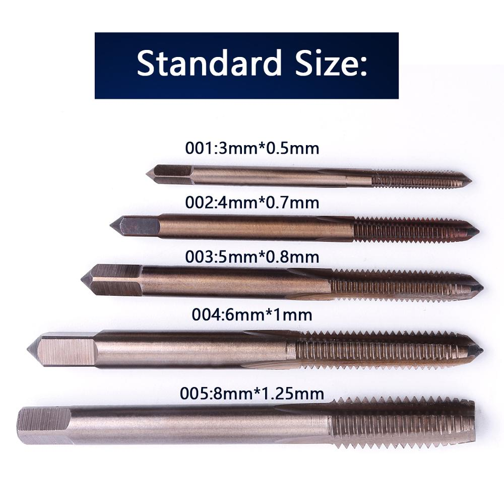 1PC M3/M4/M5/M6/M8 HSS-CO Spiral Fluted Machine Screw Thread Metric Plug Tap H2 Thread Metric Hand Tap Carving Tool