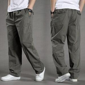 Image 1 - Harem tactica calças dos homens marca 2018 verão flacidez calças de algodão calças masculinas plus size calça esportiva dos corredores pés pantsL 6XL